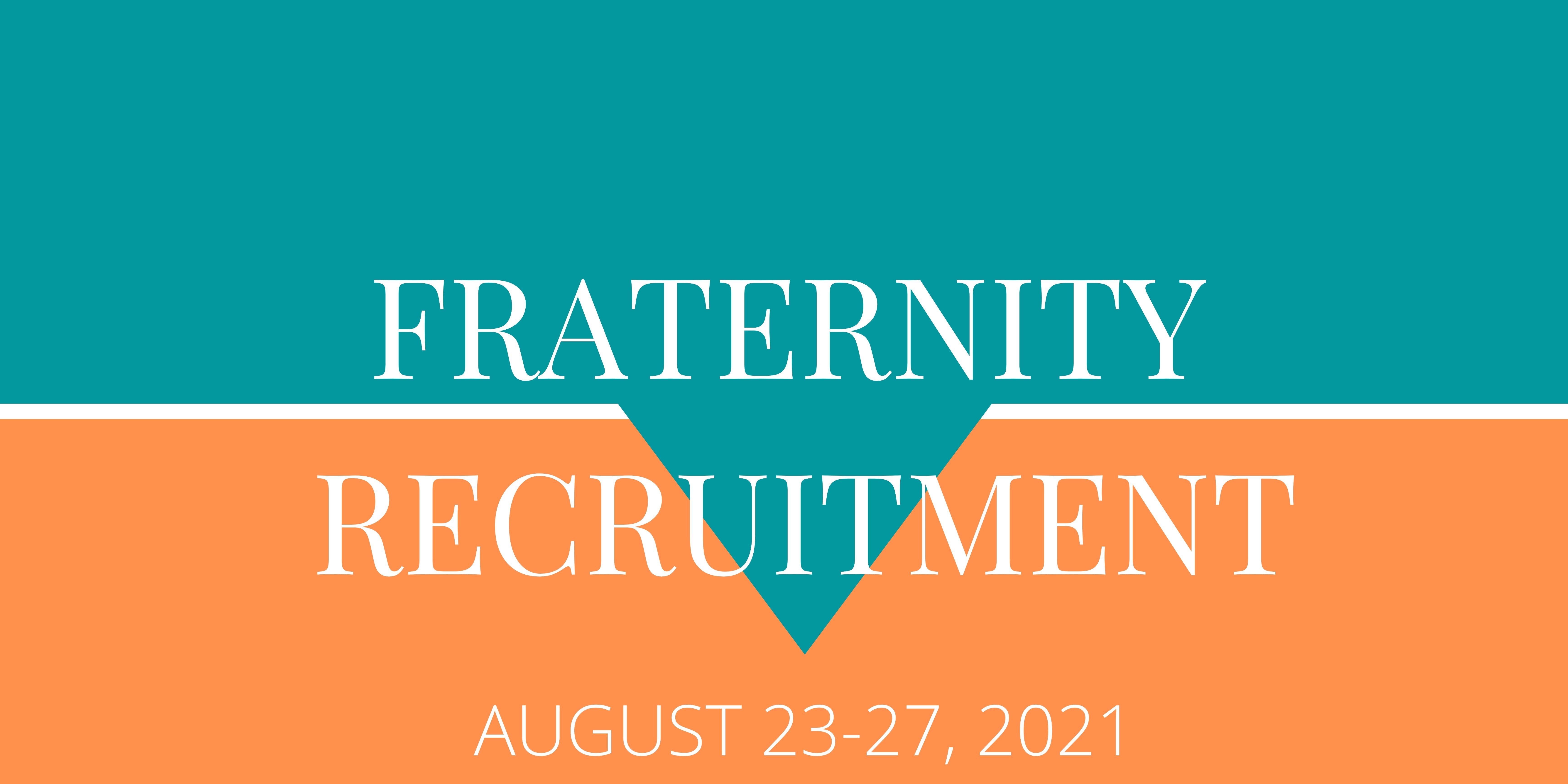 Fall 2020 Fraternity Recruitment