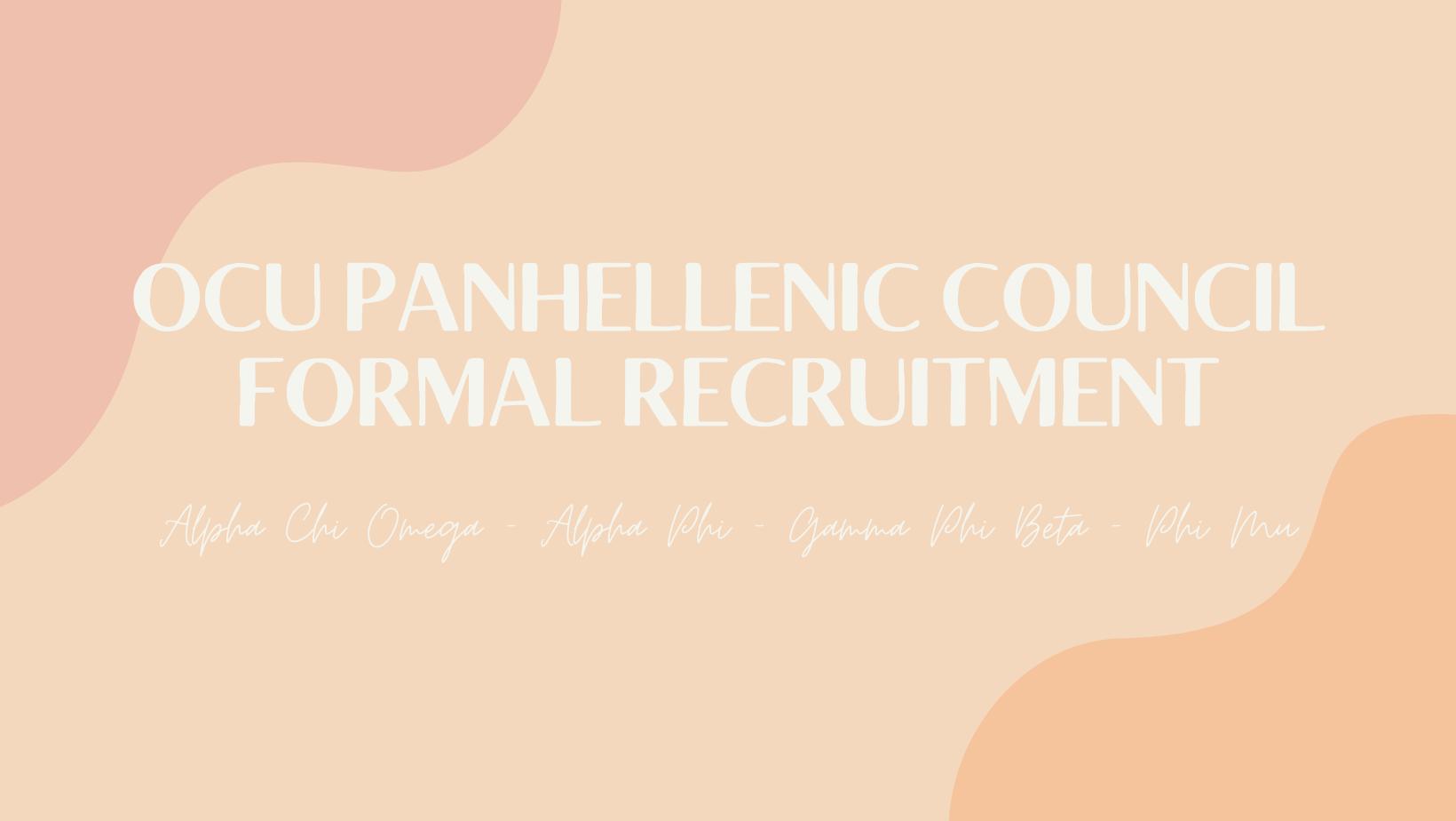 Fall 2021 Sorority Recruitment