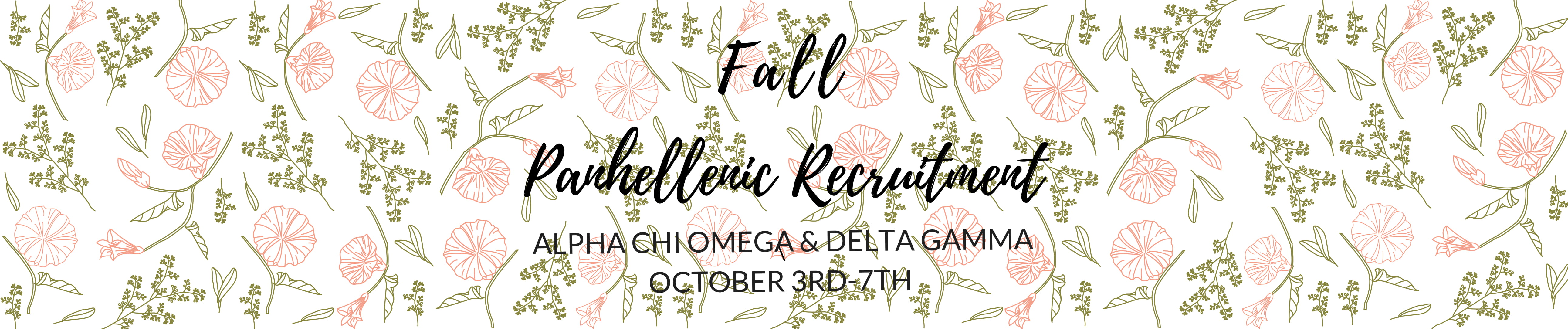 2018 Fall Sorority Recruitment