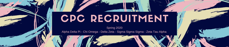 Spring 2020 Sorority Recruitment